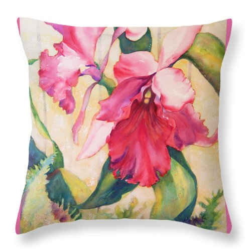 Top Artist Contemporary Art Throw Pillow featuring the painting Star Of The Show by Sharon Nelson-Bianco