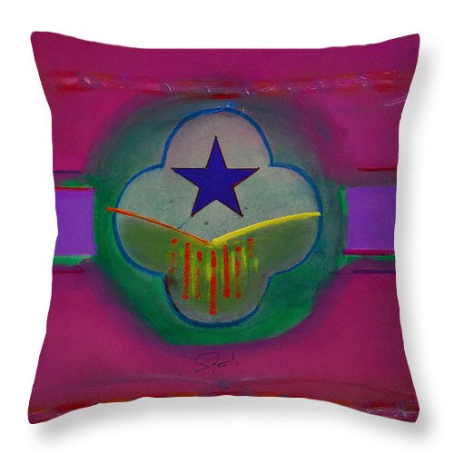 Star Throw Pillow featuring the painting Star Of Venice by Charles Stuart