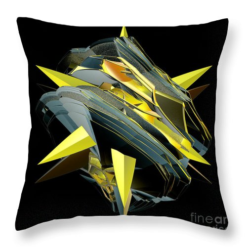 Incendia Throw Pillow featuring the digital art Star Of Yellow by Deborah Benoit