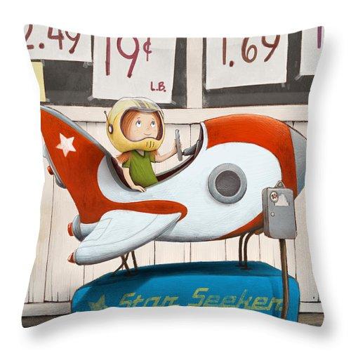 Dreams Throw Pillow featuring the digital art Star Seeker by Michael Ciccotello