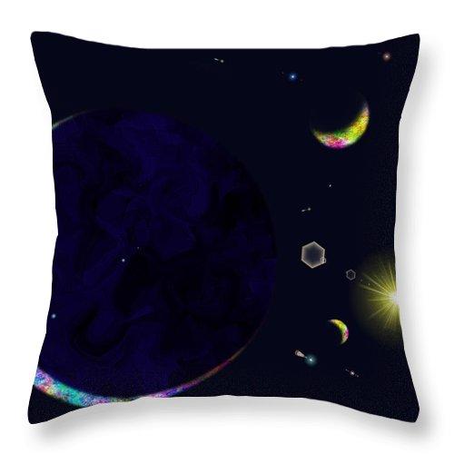 Throw Pillow featuring the digital art Star Shine by Tim Allen