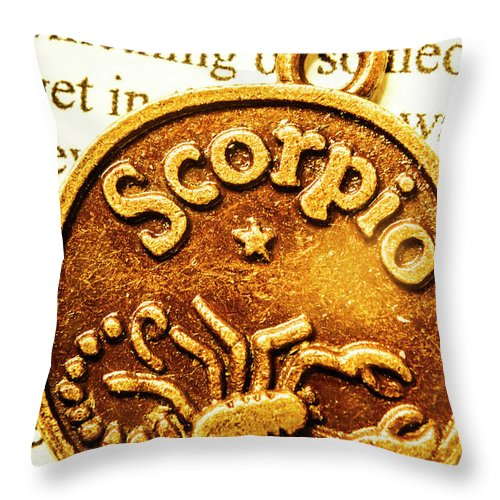 Scorpio Throw Pillow featuring the photograph Star Sign In Scorpio by Jorgo Photography - Wall Art Gallery
