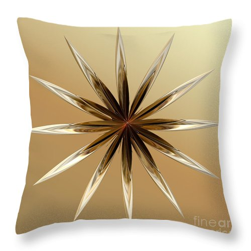 Digital Throw Pillow featuring the digital art Star Tan by Deborah Benoit