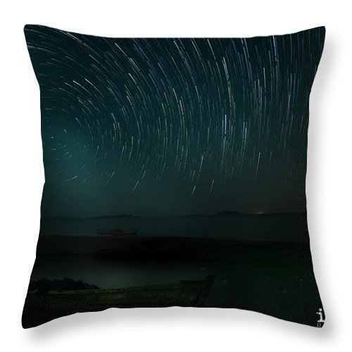 Nightscape Throw Pillow featuring the photograph Star-trail_1 by Ilesh Shah