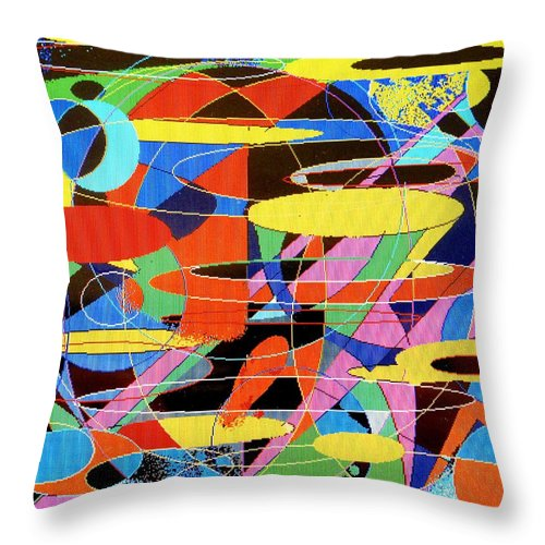 Abstract Throw Pillow featuring the digital art Star Wars by Ian MacDonald