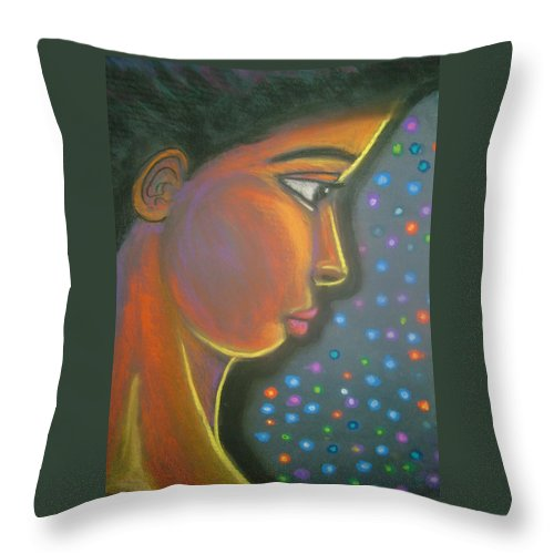 Throw Pillow featuring the drawing Starbrite by Jan Gilmore