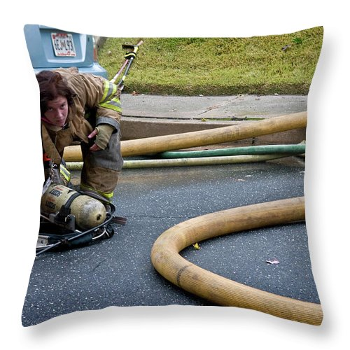 Fire Throw Pillow featuring the photograph Stare by Murray Bloom