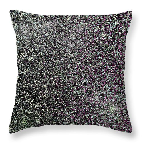 Abstract Throw Pillow featuring the digital art Starfield Variations 7-22-2015 #2 by Steven Harry Markowitz