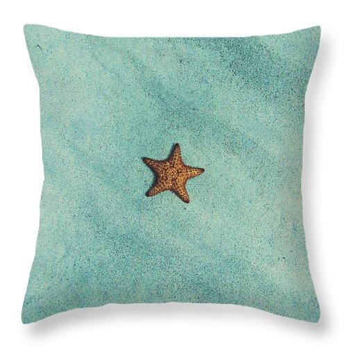 Starfish Throw Pillow featuring the photograph Starfish Aquamarine by Fbmovercrafts