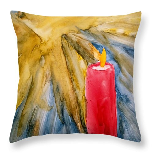 Star Throw Pillow featuring the painting Starlight And Candlelight by B Kathleen Fannin