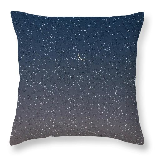 Throw Pillow featuring the photograph Starry Morning Sky by Luciana Seymour