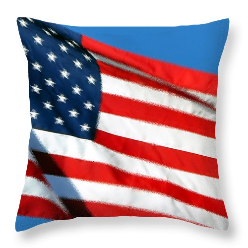 Flag Throw Pillow featuring the photograph Stars And Stripes by Al Powell Photography USA