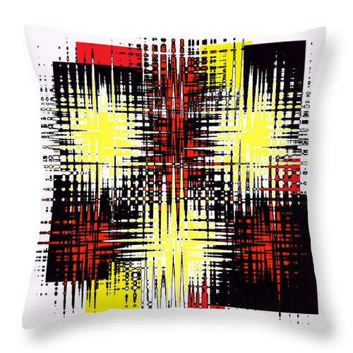 Modern Throw Pillow featuring the digital art Static by ME Kozdron