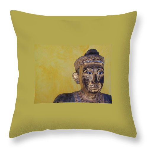 Charity Throw Pillow featuring the photograph Statue by Mary-Lee Sanders