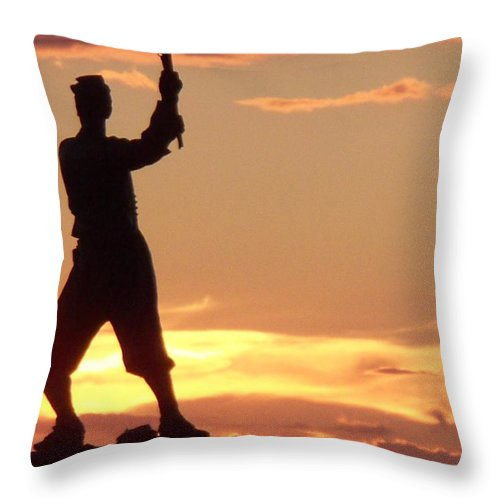 Statue Throw Pillow featuring the photograph Statue On Cemerty Ridge by Eric Schiabor