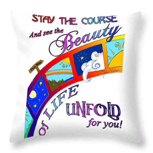 Stay The Course Throw Pillow For Sale By Jana Nielsen