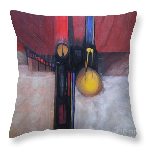 Abstract Throw Pillow featuring the painting Stay True by Marlene Burns
