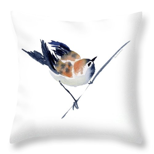 Sparrow Throw Pillow featuring the painting Steadfast by Amy Kirkpatrick