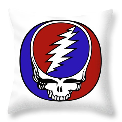 Steal Your Face Throw Pillow featuring the digital art Steal Your Face by Gd
