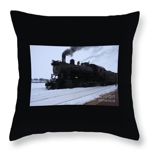 Lancaster April 2014 Throw Pillow featuring the photograph Steam by William Rogers