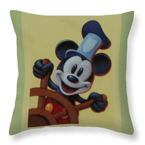 Disney Throw Pillow featuring the photograph Steamboat Willy by Rob Hans