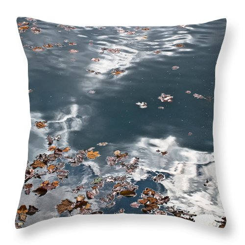 Steel Throw Pillow featuring the photograph Steel Sky On Lake by Douglas Barnett