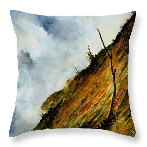Hill Throw Pillow featuring the painting Steep Slope by Michael Vigliotti