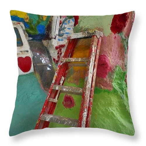 Stepladder To Heaven Throw Pillow featuring the photograph Stepladder To Heaven by Skip Hunt