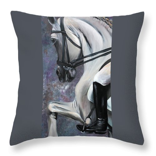 Horse Throw Pillow featuring the painting Steppin' Out by Cher Devereaux