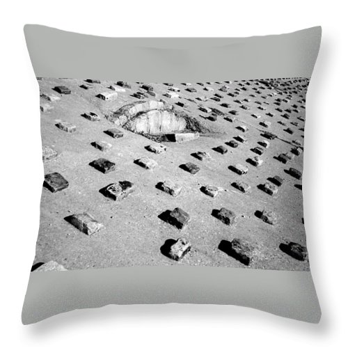 Pattern Throw Pillow featuring the photograph Stepping Stones by Deborah Crew-Johnson