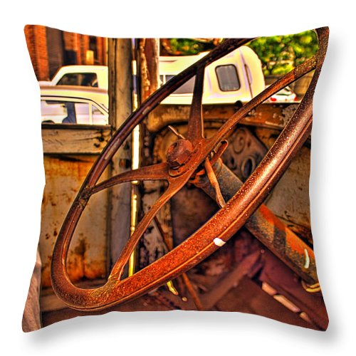 Cars Throw Pillow featuring the photograph Sterring Towards Classic by Francisco Colon