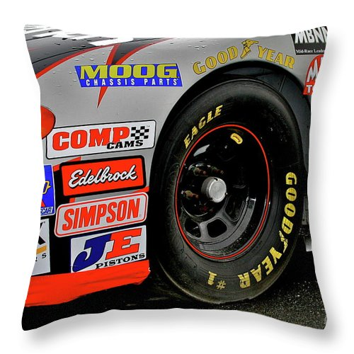 Car Throw Pillow featuring the photograph Stickers by Rick Monyahan