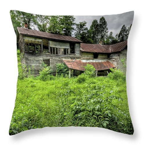 Landscape Throw Pillow featuring the photograph Still Abandond by Rob Narwid