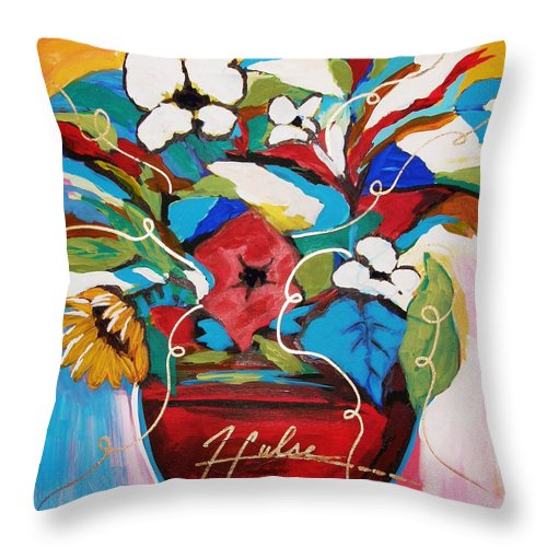 Floral Throw Pillow featuring the painting Still Dreaming Of Tuscany by Gina Hulse