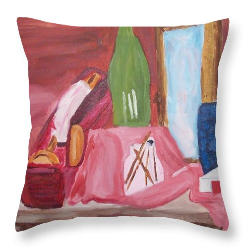 Still Life Throw Pillow featuring the painting Still Life by Crystal Webb