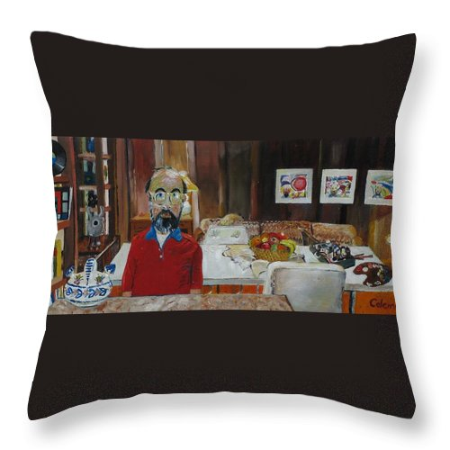 Self Portrait Throw Pillow featuring the painting Still Life by Gary Coleman