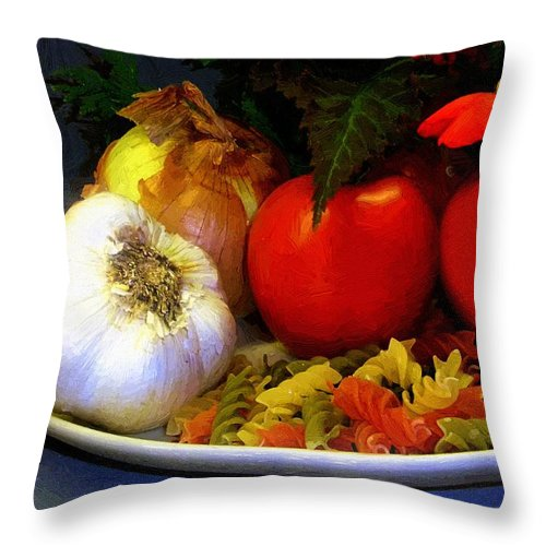 Food Throw Pillow featuring the painting Still Life Italia by RC DeWinter