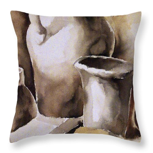 Still Life Throw Pillow featuring the painting Still Life by Michael Lang