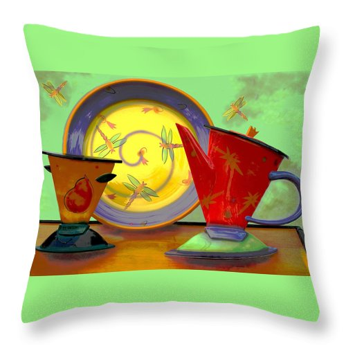 Dragonflys Throw Pillow featuring the photograph Still Life One by Jeff Burgess