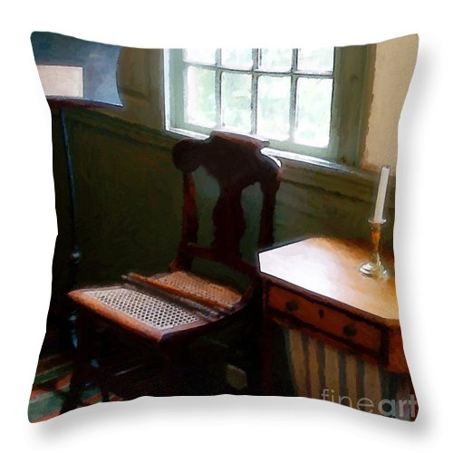 Still Life Throw Pillow featuring the painting Still Life, Stevens House by RC deWinter