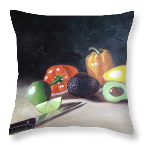 Throw Pillow featuring the painting Still-life by Toni Berry