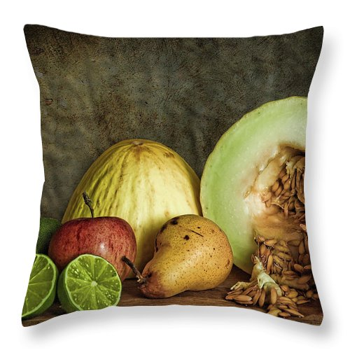Still Life Throw Pillow featuring the photograph Still Life With Fruit by Stefan Nielsen