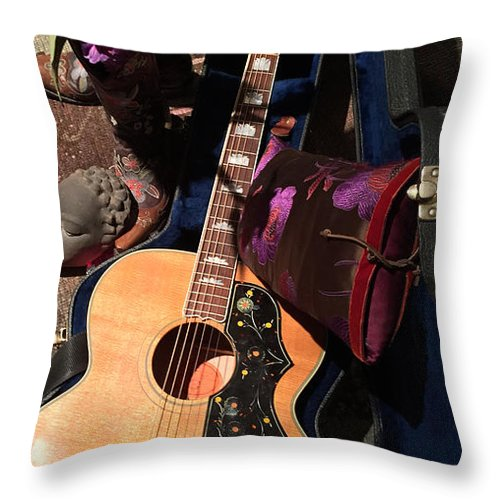 Maida Throw Pillow featuring the photograph Still Life With Guitar by Riva Danzig