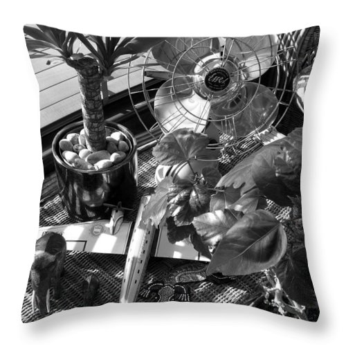 Still Life Throw Pillow featuring the photograph Still Life With Salamander by Charles Stuart