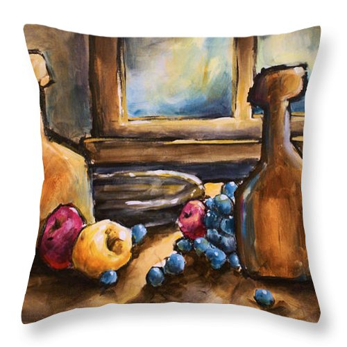 Still Life Painting Throw Pillow featuring the painting Still Moment by Michael Lang