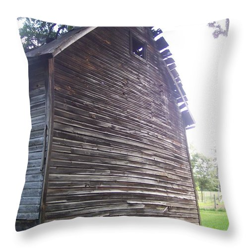 Old Rustic Farm Barn Country Throw Pillow featuring the photograph Still Standing by Anna Villarreal Garbis