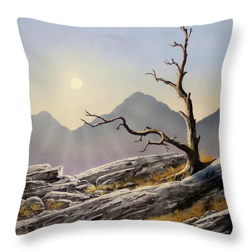 Still Standing Throw Pillow featuring the painting Still Standing by Frank Wilson