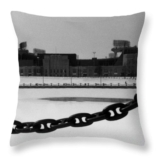 Cleveland Throw Pillow featuring the photograph Still Standing by Kenneth Krolikowski