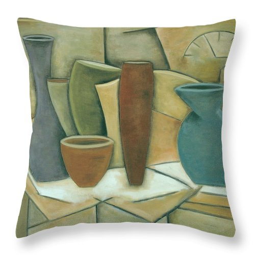 Still Life Throw Pillow featuring the painting Still Time by Trish Toro