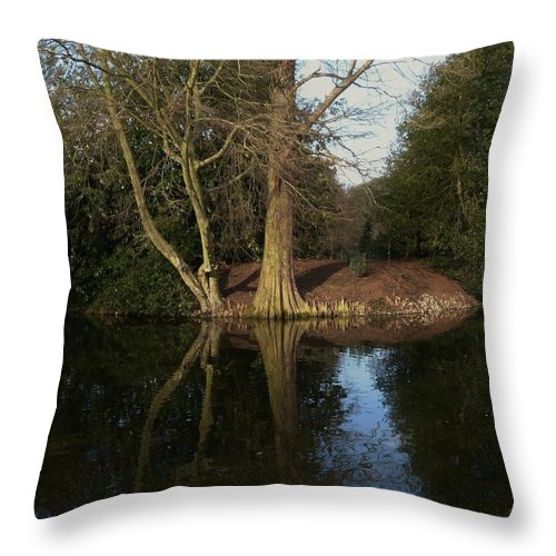 Throw Pillow featuring the photograph Still Water by Nigel Photogarphy